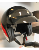 Niu Helm Zwart/Rood/Wit / Scooterparadise