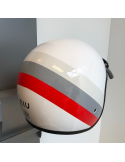 Niu Helm Wit/Rood/Grijs / Scooterparadise
